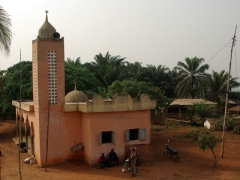 Village mosque; Benin countryside