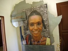 Opening display for the women of Africa exhibition; Maison du Bresil