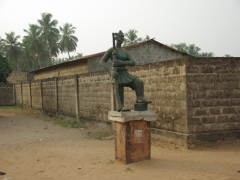 One of many statues errected along the Route des Esclaves; Ouidah