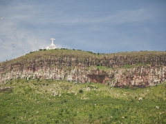 Lubango's very own Christ the Redeemer statue atop its mountain range