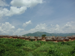 Panoramic view of a typical Angolan village