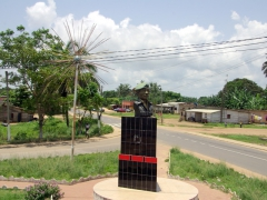 Bust of some Angolan General; Cabinda enclave