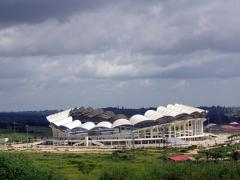 Cabinda's massive, modern sports stadium