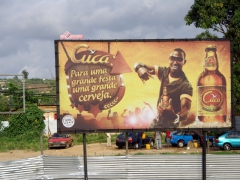Cuca beer advertisement; Cabinda