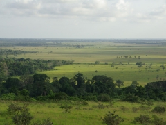 Scenic Angolan countryside near Yema