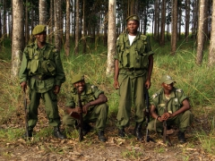 Group portrait of our Angolan guard force