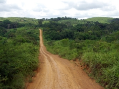 A main, unpaved road in Angola; near N'Zeto