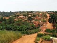 View of our drive through an Angolan village