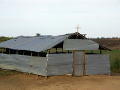 When there is a will, there is a way. A corrugated tin church