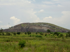 We were surprised to see massive rock formations as part of Angola's landscape