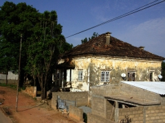 A bullet ridden building; outskirts of Huambo
