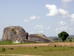 Rock formations on the outskirts of Huambo
