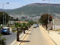 View of Lubango as we drove in to try to extend our transit visas