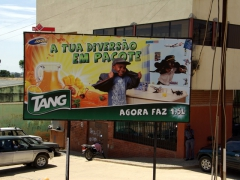 Our favorite truck beverage, Tang, has its very own billboard in Lubango!