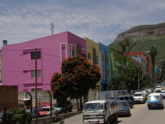 A colorful building block in Lubango