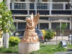 An angel statue in the main square of Cabinda
