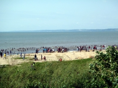Cabinda teenagers partying it up on the beach after carnival celebrations