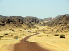 A road runs through it, our route to Ihrir from Djanet