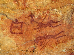 Cave paintings; Idaren valley