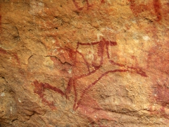 Crude horse cave painting; Emouroden