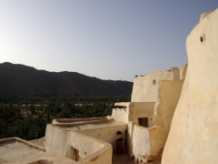 The white washed mud brick walls of the renovated section of Ksar El Mihane will one day house a museum-village; Djanet