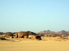 Cool looking rock formations; drive from Djanet to the base of Jabbaren
