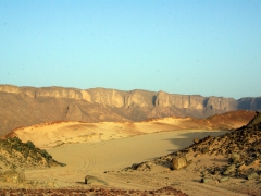 Our first glimpse of Tassili N'Ajjer Plateau (only way to reach it is by foot