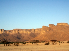A pretty view of Tassili N'Ajjer Plateau at dusk