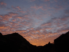 We awoke at 0500 to tackle the steep hike to Jabbaren and were welcomed with this sunrise