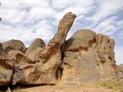 The rocks on Tassili N'Ajjer Plateau sometimes erode into whimsical formations