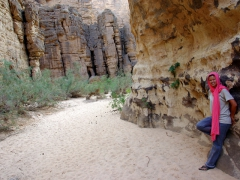 Becky loves the rock formations in scenic Essendilene gorge