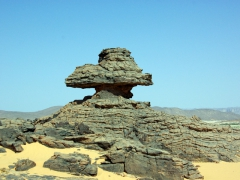 These rock formations (outskirts of Djanet) have a weathered appearance