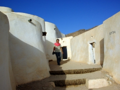 Becky enjoying the phenomenal views from Ksar El Mihane