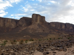 View of the massive Tassili N'Ajjer Plateau (it ended up taking us 2 hours to hike from our campsite to the summit)
