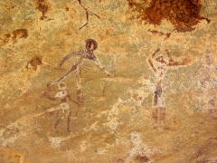 The cave art in Jabbaren is fascinating, but sadly, many of the figurines are fading away