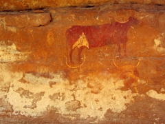 Cow cave art; Jabbaren