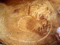 Cave art painting of a huge eye; Jabbaren