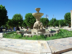 A copy of a monumental Roman fountain in Cherchell's main square