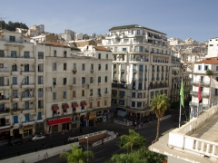 The famous white-washed buildings of Algiers