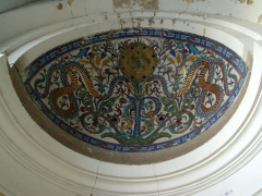 Decorative ceiling painting in entrance way at Djemaa Ketchoua Mosque; Algiers