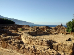 The Great Christian Basilica had great views out to sea; Tipaza
