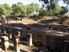 Stage area of the Roman ampitheater at Tipaza