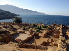 Overlooking the waterfront Villa of Frescoes; Tipaza