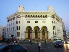 The French-inspired hispano-Moorish architecture of the Grande Poste; Algiers