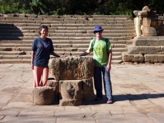 Posing in the center of the New Temple; Tipaza