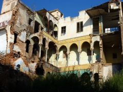 Remains of a house showing the decorative inner courtyard; Algiers