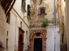 Typical scene of the Casbah with arched doorways and narrow alleyways; Algiers