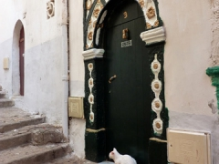 Typical arched doorway to a home in the Casbah; Algiers