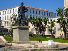 Statue to honor the Barbarossa (Ottoman Admiral), who dominated the Mediterranean for decades