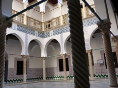 Main ornately decorated inner courtyard of the Palais Des Rais; Algiers